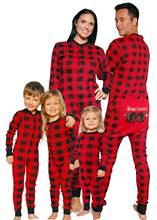 Family Matching Christmas Kids Adult man women boy girl Pajamas Pjs Set Xmas Hooded Jumpsuit Fashion Casual Outfit Nightwear Gifts(China)