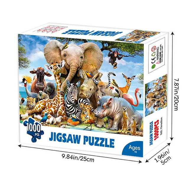 1000 Pieces Jigsaw Puzzle Children's Adult Wooden Puzzle Intelligence Educational Game Toys kids Jigsaw Puzzle toys Stickers 3