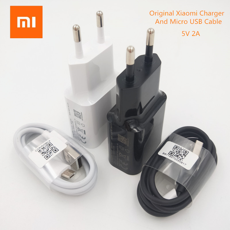 Original Xiaomi 5V 2A EU Charger Micro Usb Cable Wall Charging Adapter For Redmi 7 7A 6A 5A 4A Note 3 4 5 6 Pro 4X S2/A2 Lite