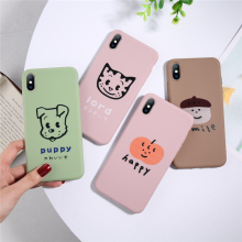 Ottwn Funny Dog Phone Cases Cover For iPhone 6 6S Plus 7 8 7Plus X XR XS MAX Cute Cartoon Painting Soft Back Case