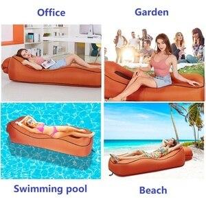 Image 3 - Tumbona inflable para la playa, a prueba de agua, antifugas de aire, para el hogar y el patio trasero