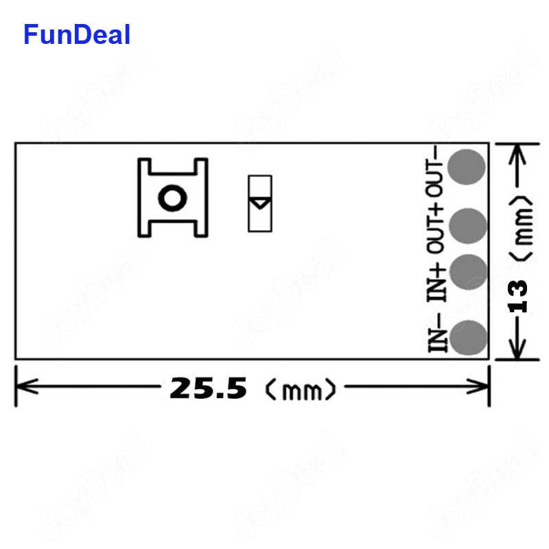 433 MHz 3.7V ~ 24V Mini 1CH RF Tiếp Không Dây Điều Khiển Từ Xa Công Suất Đèn LED Điều Khiển Micro thu Phát Cho Ánh Sáng