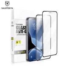Smartdevil iphone 12 11プロmax x xs xrガラスマットiphone 7 8プラスse 2020 6 6 5sフルカバー