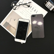 White Rose case for iPhone 6 6Plus 6s 7 8 6sPlus cover applicable to iphone 7Plus 8Plus hard PC frosted touch original