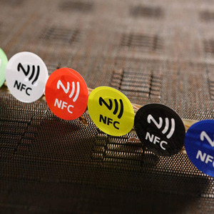 Anti Metal Adhesive Label NTAG213 NFC Sticker 13.56MHz RFID Tag 144 Byte Read Write 6 Color for All NFC Phones 6Pcs/Set