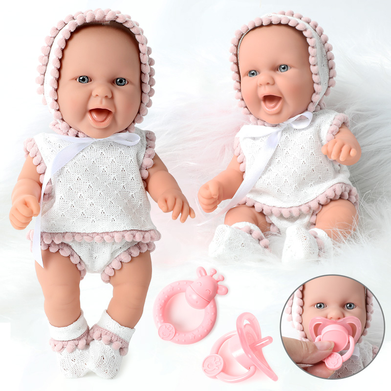 10 Inch Simulation Bebe Reborn Silicone 26CM Newborn Waterproof Realistic Bady Doll Nipple Hand Rattle Set Education For Toys