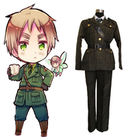Anime Hetalia Axis Powers Cosplay Costume Military Uniform Cosplay Costume Halloween Carnival Party Customized