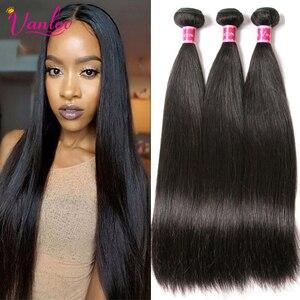 Vanlov Straight Hair Brazilian Straight Human Hair Weave Bundles Natural Black 1/3/4 pcs/lot 100% Human Hair Bundles Remy Hair