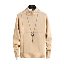 Winter Men Sweater 2019 Men Turtleneck Casual Sweater Men's Slim Fit Brand Thick Warm Knitted Pullovers Male Knitwear Pull Homme brand casual turtleneck sweater men pullovers autumn knitwear