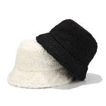 Панама из искусственного меха женская брендовая Зимняя шляпа