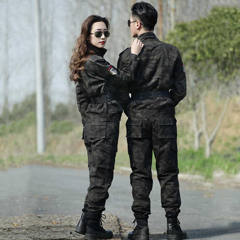 Inverno militar camuflagem uniforme dos homens camisa de combate tático roupas de caça do exército feminino airsoft algodão terno pesca calças carga