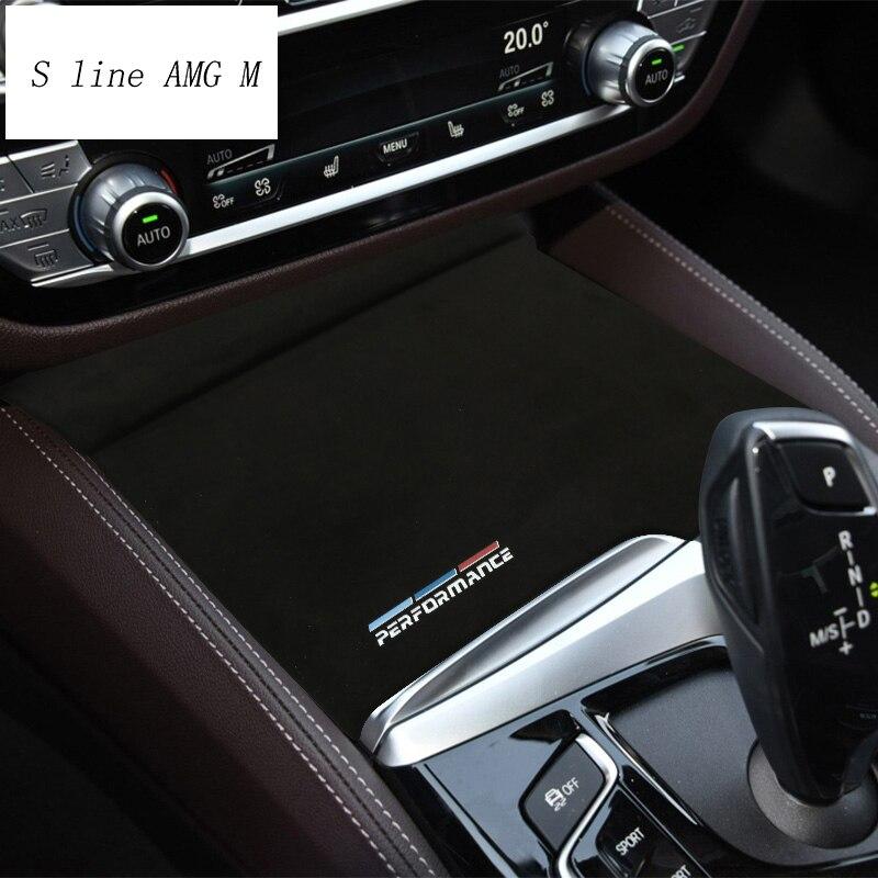 Стайлинг автомобиля для BMW 5 серии G30 G38 замшевая Авто обмотка ABS держатель для стакана воды панель для M Эффективное покрытие наклейки и накле...