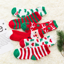 Christmas Sock Cotton Print Winter Warm Christmas Gifts Socks Soft Cotton Santa Claus Deer Socks Xmas Christmas Socks худи print bar christmas winter