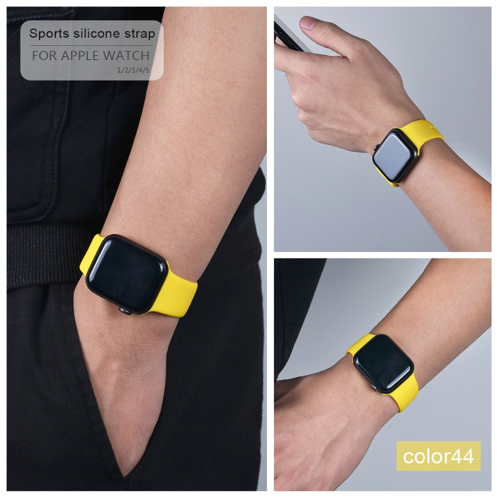 Colorful Silicone Band for Apple Watch 115