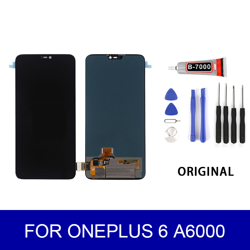 <font><b>A6000</b></font> LCD For <font><b>Oneplus</b></font> 6 <font><b>A6000</b></font> LCD Display Touch <font><b>Screen</b></font> Panel Digitizer Assembly <font><b>Screen</b></font> Replacement Parts image
