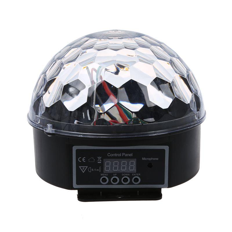HHO-DMX512 Lighting Scene DJ Disco Bulb LED RGB Lamp Crystal Ball Spotlight Soiree Club Bar