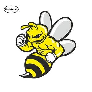 HotMeiNi Car Styling Car Sticker Wasp Bee Hornet Vinyl Sticker Laptop Travel Luggage Car Waterproof Accessories 13 x 11cm