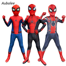 Costume Kids Superhero-Suit Spider Cosplay Spandex Home-Man Boys with Lenses-Mask 3d-Print