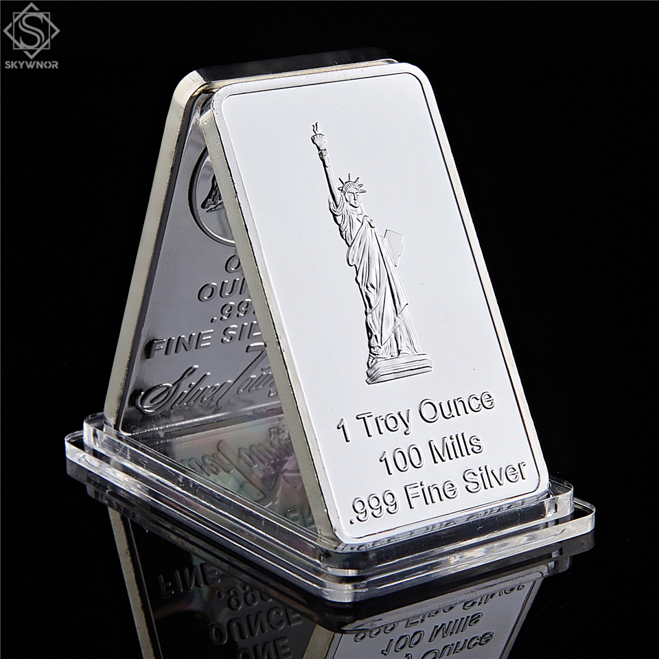 USA Eagle Statue of Liberty Commemorative Coins United State Rectangle Silver Souvenir Medallion Token Bar|Non-currency Coins|   - AliExpress