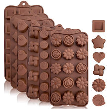 SILIKOLOVE 3D Chocolate Molds Christmas Chocolate Candy Mold(China)