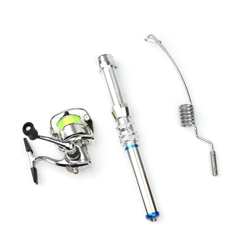 Mini Ice Fishing Rod Set Boat Winter with Xm100 Spinning Wheel Reel Tackle Accessories