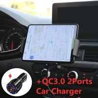 Cargador inalámbrico de coche con sujeción automática, soporte de teléfono para Samsung Galaxy Fold Note 10, 8, S20, S9, iPhone XR, 11, XS Max