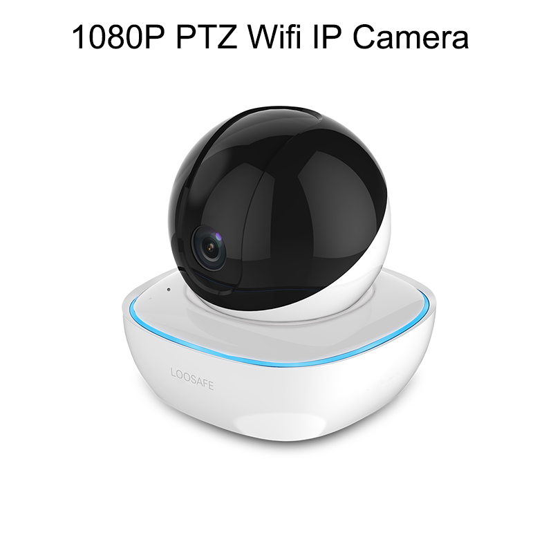 LOOSAFE Network IP Camera 1080P PTZ Wifi Panorama IP Camera Home Security Surveillance CCTV Camera 2 Way Audio Alarm Night Vision H.264 Indoor CMOS 3.6mm 2MP Wifi Camera Support Windows PC Android IOS SmartPhone image
