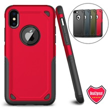 Luxury Slim Shockproof Armor Case For iPhone X XS Max XR 7Plus Hybrid PC+TPU Rugged Phone Case for iphone 7 8 6 S 6S Plus Cover stylish shockproof and rugged mechanical hybrid case for iphone xr x 6 s 7 8 plus and iphone xs max tpu silicone case