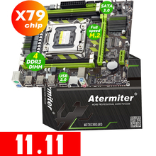 Atermiter X79  X79G Motherboard LGA 2011 USB2.0 SATA3 Support REG ECC Memory and Xeon E5 Processor 4DDR3
