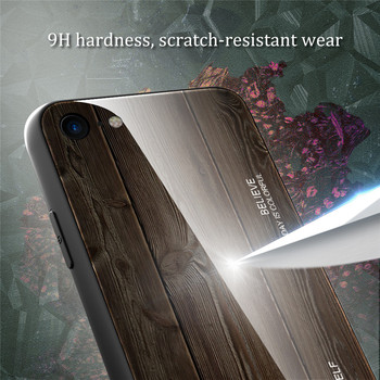 Wood grain tempered glass phone case For iPhone 11 Pro 7 8 6 6S plus Tempered Glass Case For iPhone X XS MAX 11 Pro MAX XR cases 2