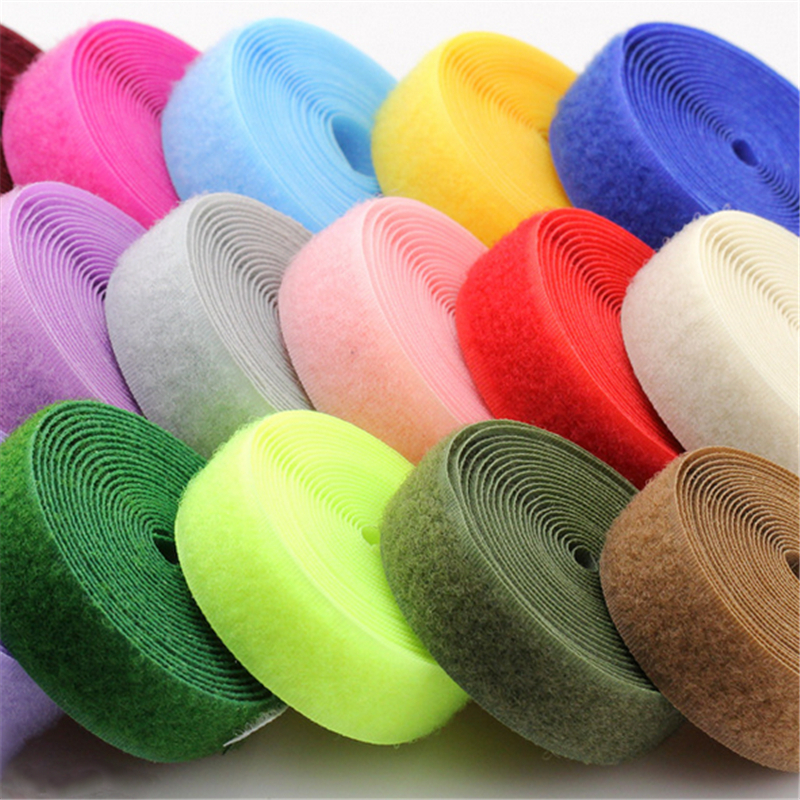 20mm 2meters Pair Colorful Velcros Adhesive Sticker Hook And Loop Fastener Color Tape Cable Ties Sewing Accessories