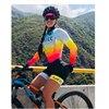 2020 mulheres profissionais triathlon manga longa conjunto skinsuit maillot ropa ciclismo aofly mtb bicicleta roupas macacão fino almofada esponja macaquinho ciclismo feminino manga longa roupas com frete gratis macaca 12