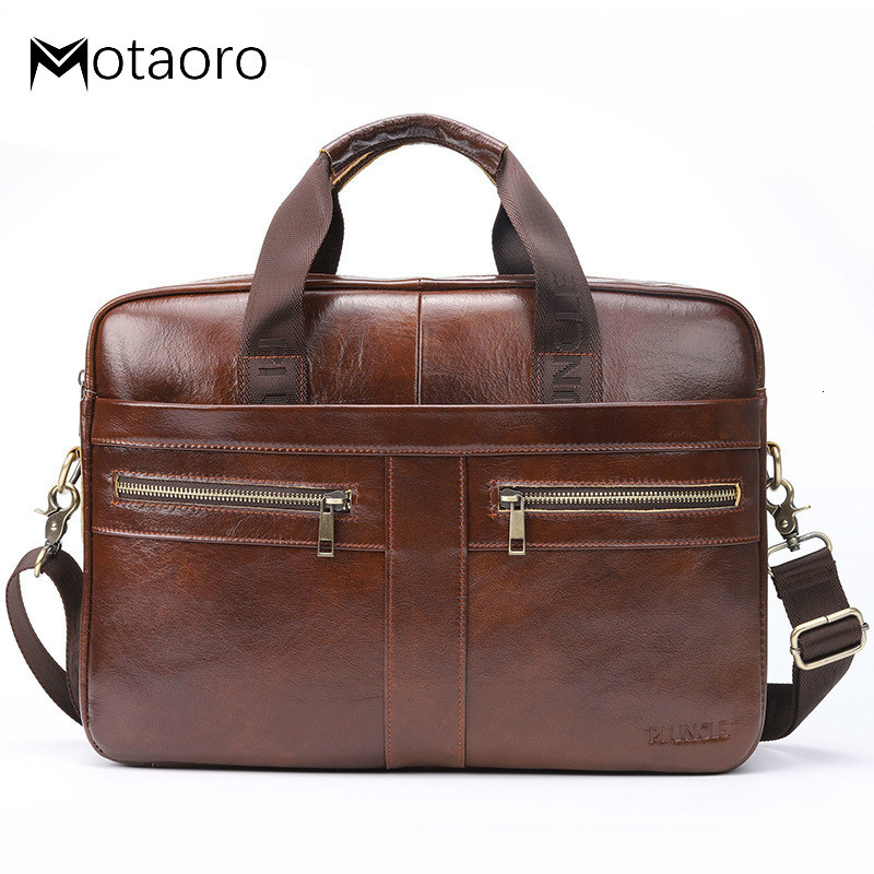 Man Bag Cowhide Leather Briefcase Men Genuine Leather Handbag Crossbody Bags High Quality Luxury Business Messenger Bolso Hombre