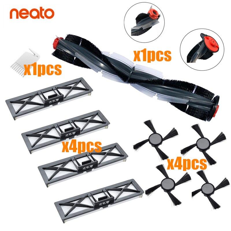 استبدال أجزاء الأسطوانة فرشاة الرئيسي فلتر ل Neato Botvac D85 D3 D5 D7 توصيل D سلسلة جهاز آلي لتنظيف الأتربة اكسسوارات كيت
