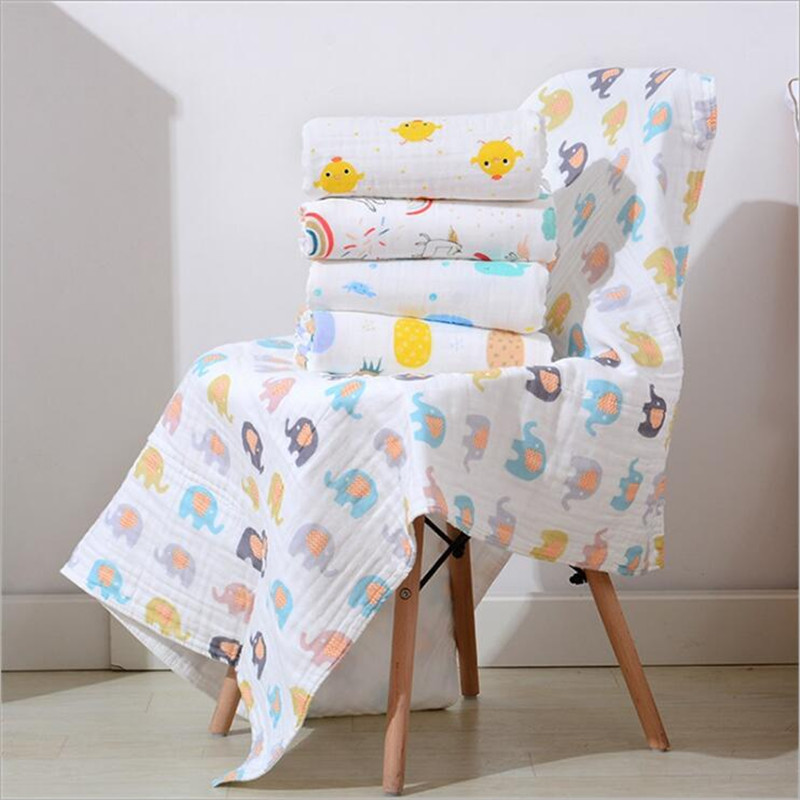Super Soft 6 Layers Muslin Cotton High Density Baby Sleeping Blanket Infant Kids Bath Towel Swaddle Blanket Swaddle For Newborn