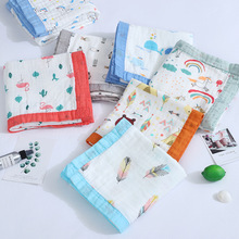 Four Layers of Gauze Bamboo Fiber Newborn Baby Cotton Bath Towel Children's Blanket Baby Swaddling Wrap Towel towel bamboo brown stone production of ecotex russian companies
