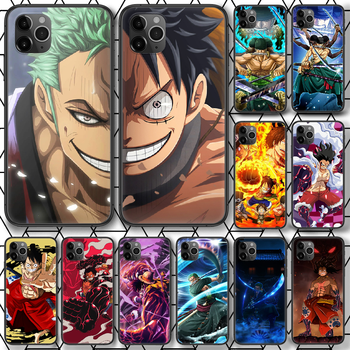 One Piece Luffy Sauron Phone case For iphone 4 4s 5 5S SE 5C 6 6S 7 8 plus X XS XR 11 12 mini Pro Max 2020 black prime trend image