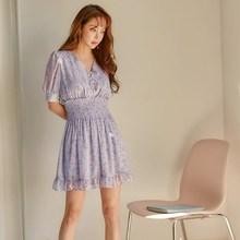 Women V-neck High Waist Chiffon Floral Print Dress 2019 New Ruffle Purple A-line Mini Dress Party Casual Dresses цены