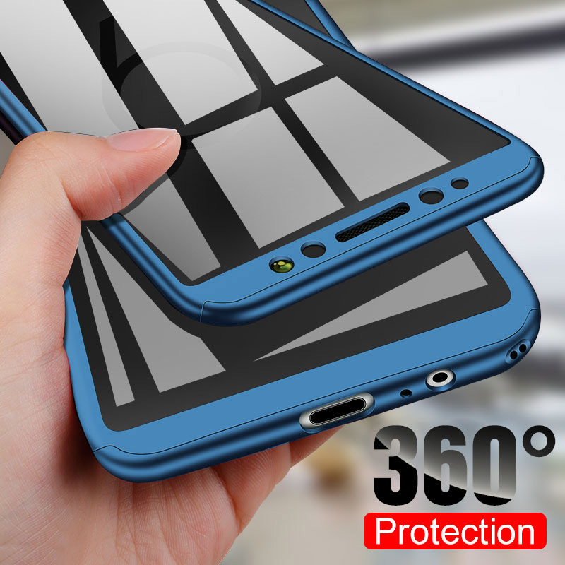 360 Shockproof Full Cover Phone Case For Redmi Note 8 7 6 5 Pro 4 4X 7A 6A 5A Prime Phone Cases For Xiaomi Mi 9 SE 8 A2 A3 Lite
