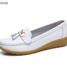 Women Shoes Slip On Genuine Leather Shoes