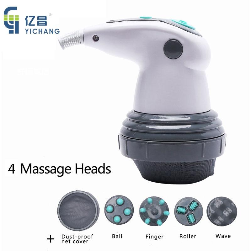 Электрический вибрирующий массажер YICHANG для тела, массажер для похудения и разминания шеи, расслабляющий продукт, массажный ролик для антицеллюлитной машины 1