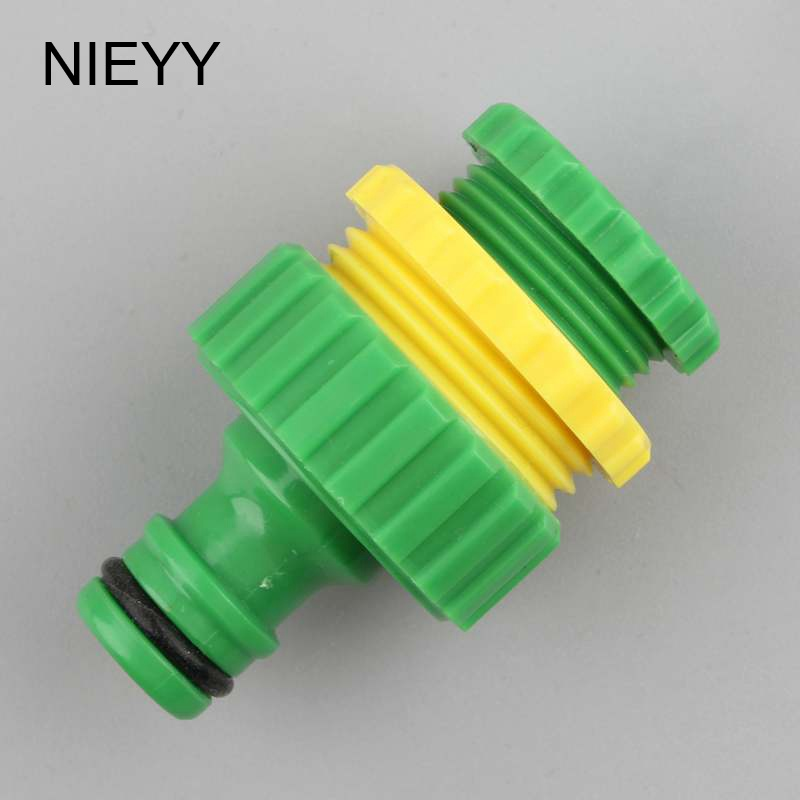 1/2 3/4 1 Inch Thread Quick Connector Washing Machine Car Wash Garden Water Gun Joint Water Tap Faucet Adapter 16mm Hose Joints
