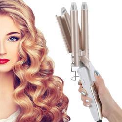 Professionnel 3 tige fer à friser en céramique Triple baril cheveux Styler femmes cheveux Waver outils de coiffure bigoudi électrique friser