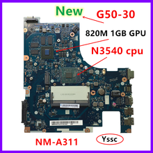 XCMCU new new NM-A311 mainboard for Lenovo G50-30 laptop pc motherboard \u0028 for intel N3540 CPU 820M GPU 1GB video card \u0029 Test OK