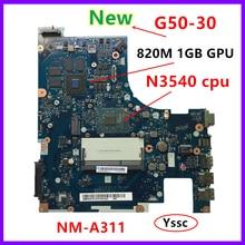 Новая материнская плата XCMCU для ноутбука Lenovo, материнская плата для ноутбука, ПК (для процессора intel N3540 820M GPU 1GB видеокарта), тест ОК