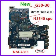 XCMCU nouvelle nouvelle carte mère NM A311 pour Lenovo G50 30 carte mère dordinateur portable (pour intel N3540 CPU 820M GPU 1GB carte vidéo)