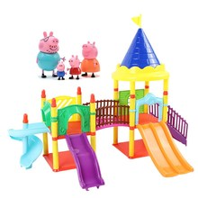 Peppa Pig George pepa pig Family friends Toys Doll Real Scene Model Amusement park house PVC Action Figures new year pig toys peppa pig toys doll train car house scene building blocks action figures toys early learning educational toys birthday gift