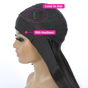 Image 3 - 1 2 5 10 Pcs Bulk Sale Deep Wave headband Wigs 100% Human Hair Machine Made Wig Natural Color Remy Jarin Hair Extensions