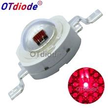 Светодиодный чип высокой мощности, 100 шт., 3 Вт, 60 нм, глубокий красный диод SMD, COB, DIY, светильник для выращивания растений и фруктов