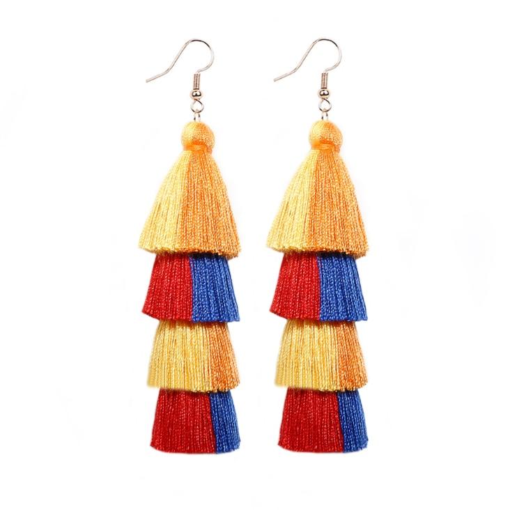 2020 new style boho earrings bohemian tassel earrings ethnic style earrings fashion jewelry drop earrings for women